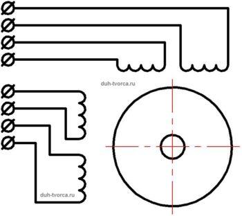 Схема универсального шагового двигателя