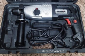 Перфоратор с отремонтированной рукояткой